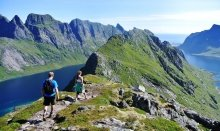 Hiking at Lofoten Islands is recommendable