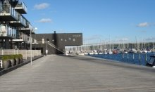 Vejle`s waterfront is today a modern and cosy district