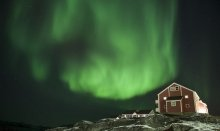 Northern lights in Nuuk is an amazing experience