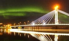 The Northern Lights in Rovaniemi in Finland