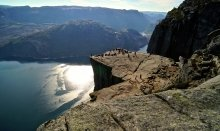 Pulpit Rock attracks thousands of tourists from all over the world